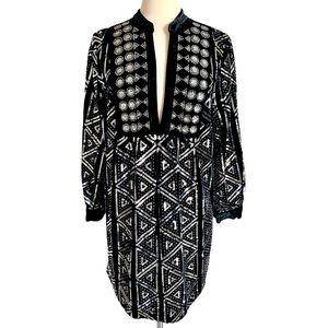 NEW ZARA Super Boho Chic Sequins Velvet Dress SZ M